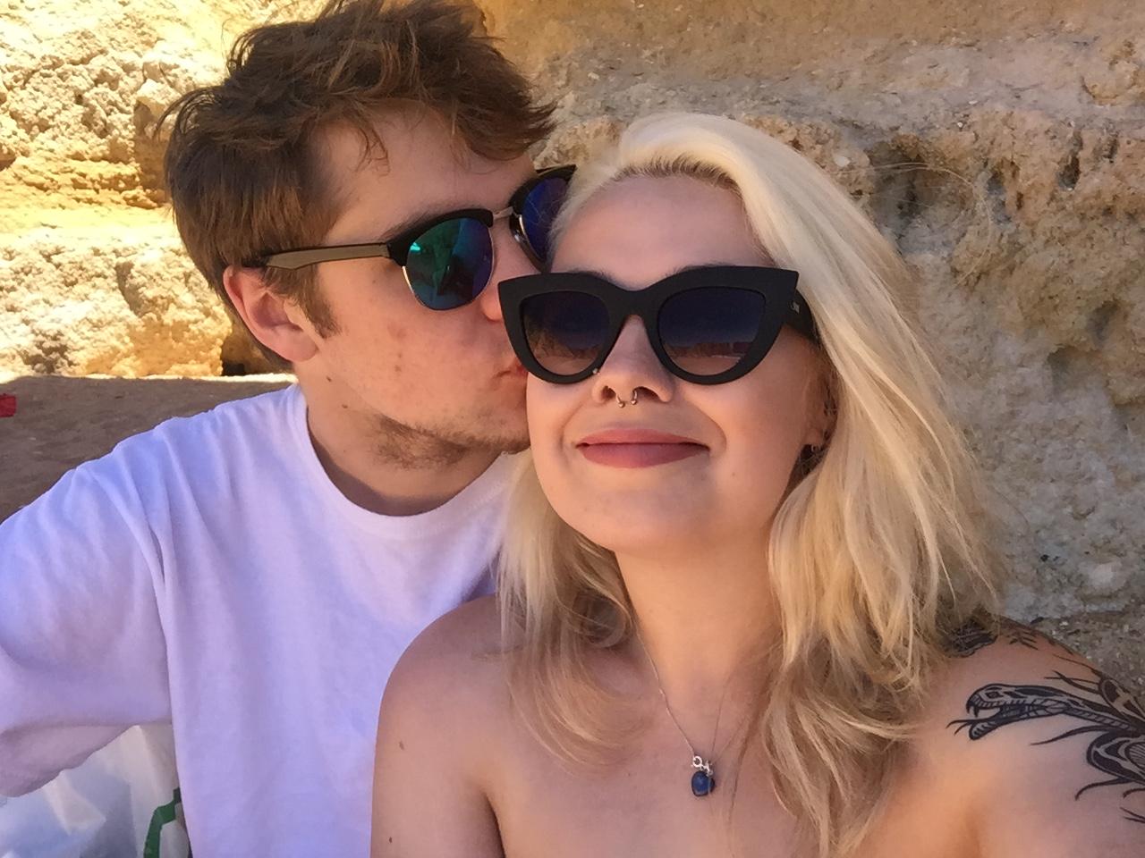 beach photo with Jake