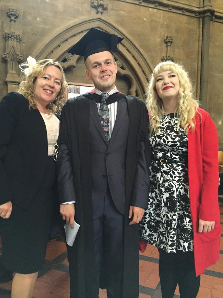 3 family members at graduation