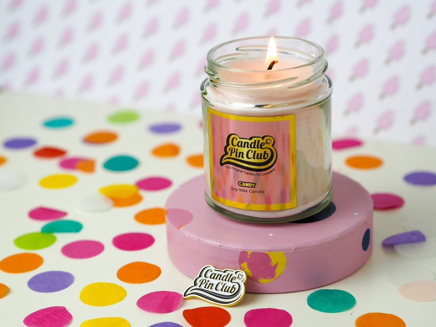 candle pin club candy candle burning