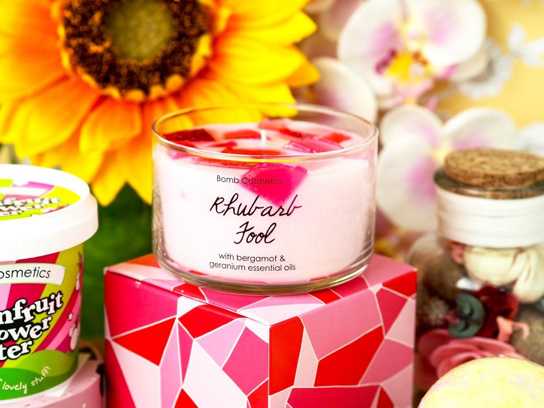 rhubarb fool jelly candle / bubbke-doh post