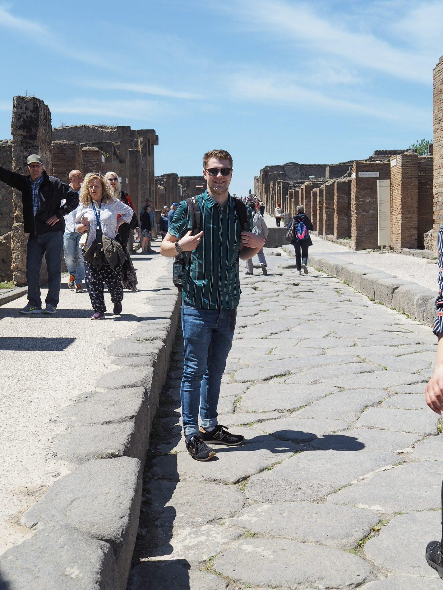 Jake in Pompeii Sorrento travel
