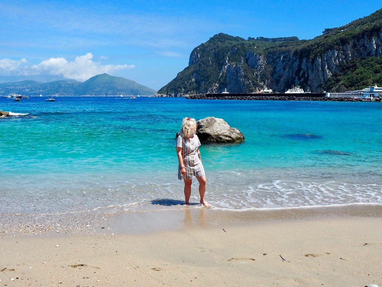 Capri island beach