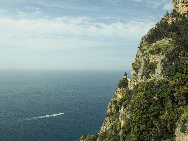 Amalfi drive and sea
