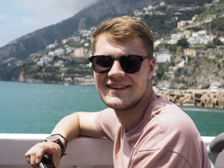 Sorrento travel: Jake on boat