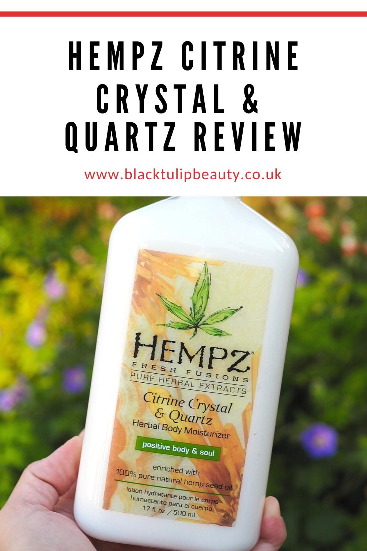 Hempz Citrine Crystal & Quartz Review!Quartz Crystal Scam